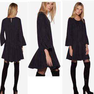 NWT Avec Les Filles Ruffle Hem Black Dress Size XL